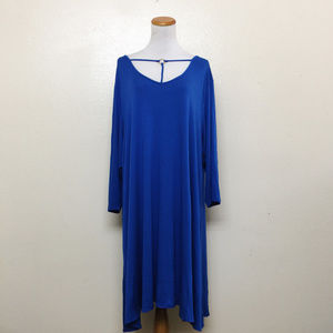 Want and Need Nordstrom Plus 3X Swing Dress Blue